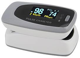 Пульсометр оксиметром на палець (пульсоксиметр) Contec CMS50D2 OLED Grey