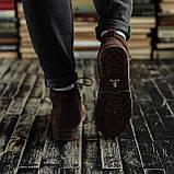 Чоловічі зимові черевики South Flip coffe. Натуральна замша і хутро. Преміум якість, фото 2