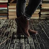Чоловічі зимові черевики South Flip coffe. Натуральна замша і хутро. Преміум якість, фото 4