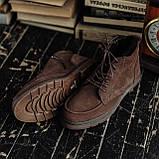 Чоловічі зимові черевики South Flip coffe. Натуральна замша і хутро. Преміум якість, фото 3