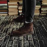 Чоловічі зимові черевики South Flip coffe. Натуральна замша і хутро. Преміум якість, фото 5