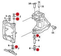 Сальник в нижнє кріплення поворотного блоку стріли VOE15672569 (VOE11881489) для задньої стріли на VOLVO: