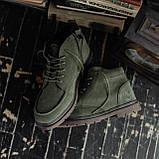 Мужские зимние ботинки South Flip green. Натуральная замша и мех. Премиум качество, фото 3
