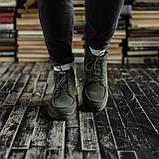 Мужские зимние ботинки South Flip green. Натуральная замша и мех. Премиум качество, фото 2