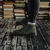 Мужские зимние ботинки South Flip green. Натуральная замша и мех. Премиум качество, фото 4