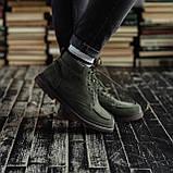 Мужские зимние ботинки South Flip green. Натуральная замша и мех. Премиум качество, фото 5