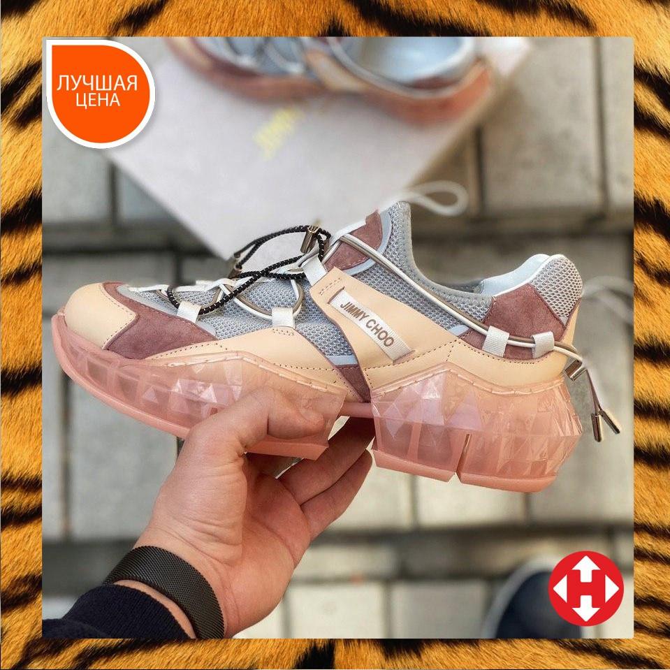 🔥 Кросівки жіночі спортивні повсякденні Jimmy Choo Pink (джиммі чу рожеві)