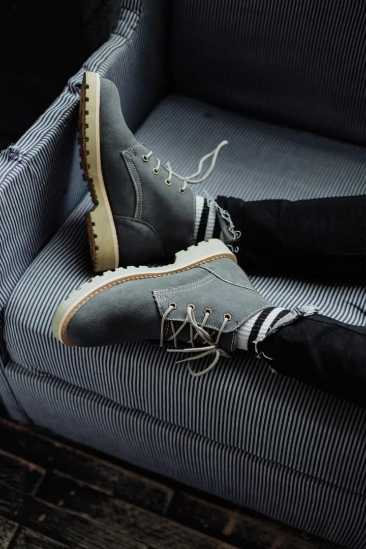Мужские зимние ботинки South Killers blue. Натуральная замша и мех. Премиум качество