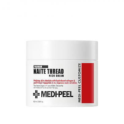 Антивіковий Крем для шиї з пептидами Medi-Peel Premium Naite Thread Neck Cream 100 ml
