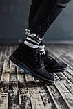Мужские зимние ботинки South Oriole black. Натуральная замша и мех. Премиум качество, фото 2