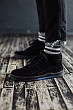 Мужские зимние ботинки South Oriole black. Натуральная замша и мех. Премиум качество, фото 3