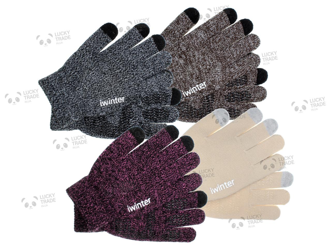 Зимние теплые перчатки iWinter для сенсорных экранов мужские женские Size S Цвет на выбор (D-Z01) [2438]