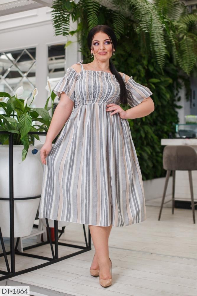 Платье в больших размерах (DG-ак 0584)