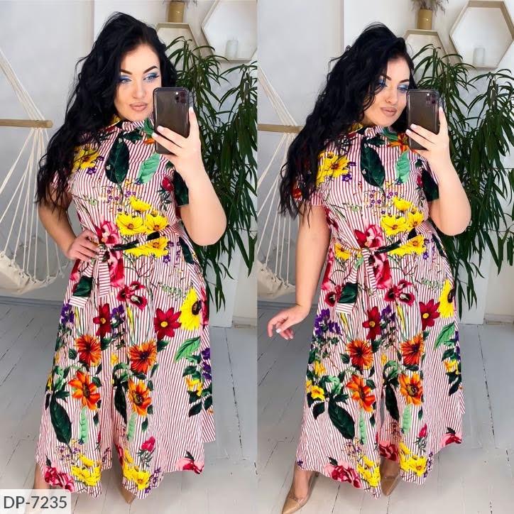 Платье в больших размерах (DG-ак 0568)
