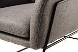 Мягкое кресло Дарио серое ткань Vetro Mebel (бесплатная доставка), фото 8