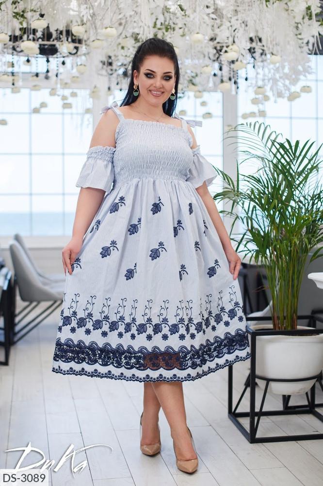 Платье в больших размерах (DG-ак 0576)