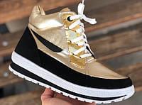 Зимние женские кроссовки BR-S высокие золотой 38 р. 25 см (1279230519)