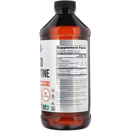 L- Карнитин Жидкий с Цитрусовым Вкусом, L-Carnitine, Now Foods, 1000 мг, 473 мл, фото 2