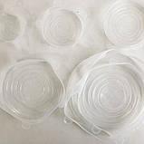 Набор силиконовых крышек для посуды 6 шт универсальные. Цвет: белый, фото 5
