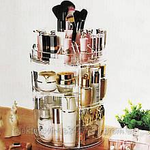 Круглый белый органайзер для косметики и украшений Style Classic Fashion