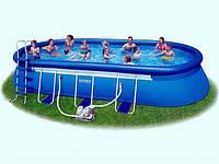 Каркасно-надувной бассейн  Intex Oval Frame Pool 57982 ( 610 х 366 х 122 см. )