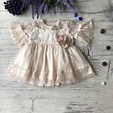 Нарядное  платье на девочку, крестильное платье на девочку 21. Размеры 68 см, 74 см, 80 см, фото 3