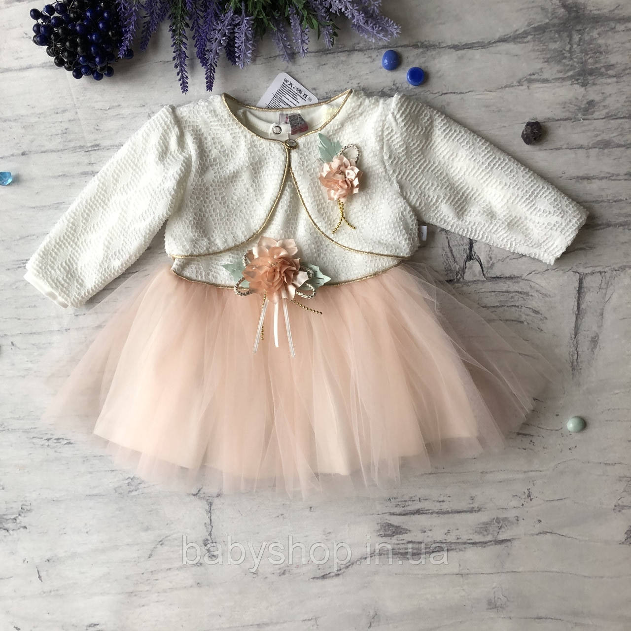 Нарядное платье на девочку 267. Размер 74 см, 80 см, 86 см