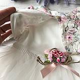 Нарядное платье на девочку 268. Размер 74 см, 80 см, 86 см, фото 2