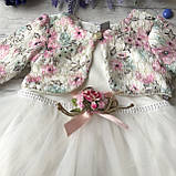 Нарядное платье на девочку 268. Размер 74 см, 80 см, 86 см, фото 3