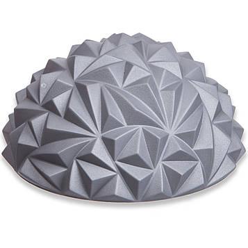Массажная полусфера балансировочная (диаметр - 16 см, высота - 8 см) - 1 шт, цвет - серый
