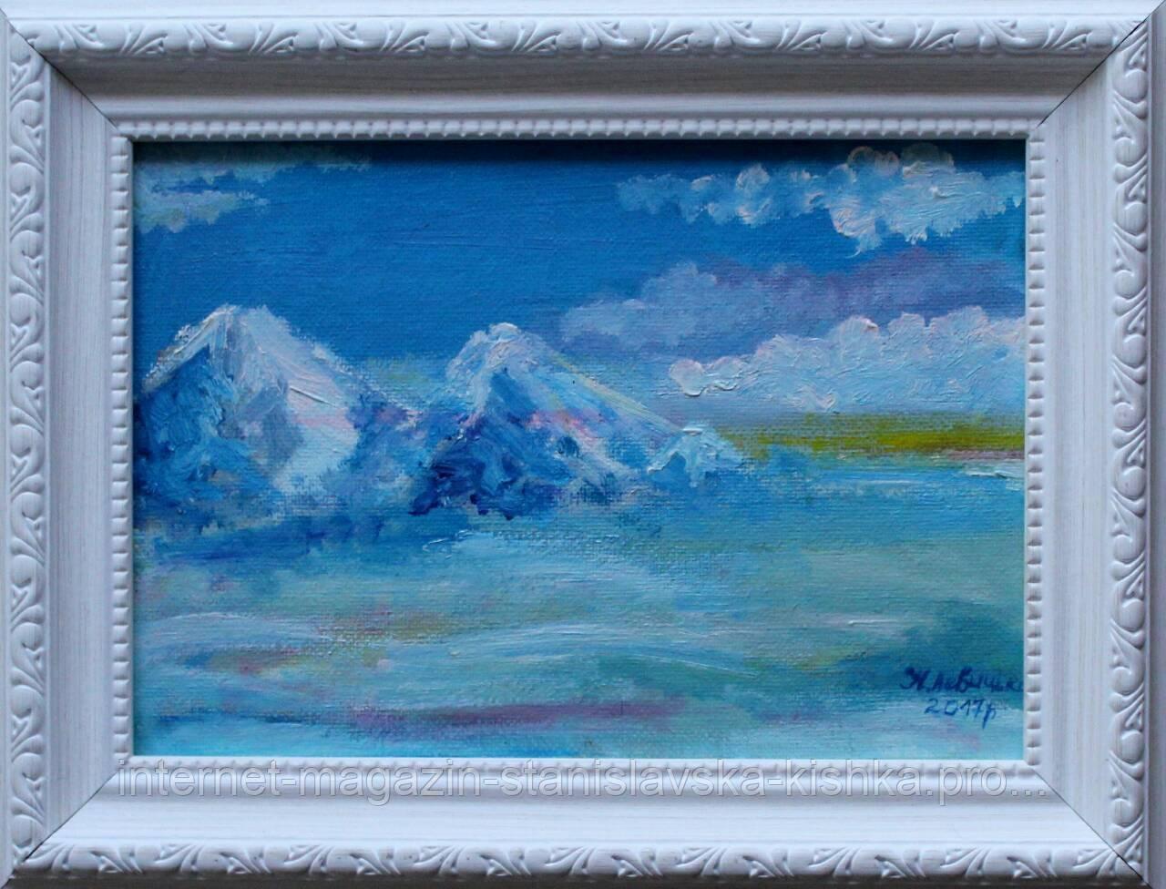 """Картина мініатюра """"Зима"""" 14,5×20,5"""