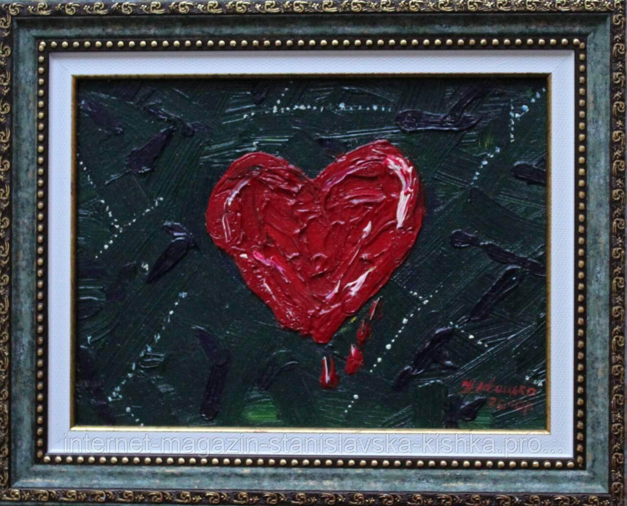 """Картина-мініатюра  """"Любов серця""""  15×20"""