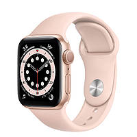 Apple Watch Series 6 44mm Pink Aluminum Case with Black Sport Band