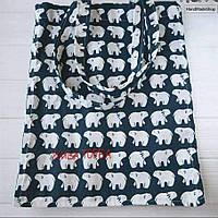 Эко сумка (торба) Белый медведь
