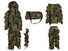 """Костюм маскировочный """"GHILLIE"""" CAMO SYSTEMS Woodland. Лесной камуфляж."""