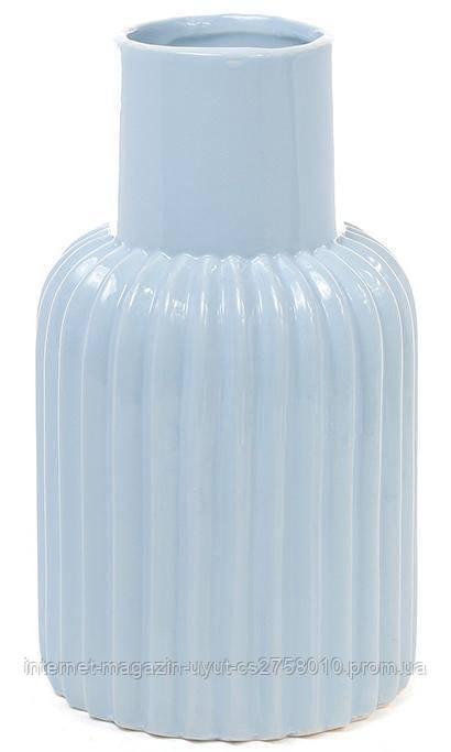 Керамическая ваза Stone Flower 24см голубая
