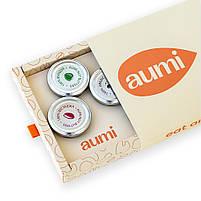 Подарунковий набір BV-4 в коробці, горіхові пасти AUMI арахісова, кокосова, десерт Карамель, з насіння, фото 5