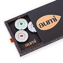 Подарочный набор TOP-4 №2 в коробке, ореховые пасты AUMI фундучная, арахисовая, десерты Карамель и Espresso, фото 4