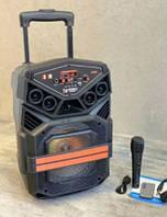 Портативная акустическая колонка Kimiso QS-822 с микрофоном (USB/BT/FM)