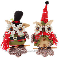 """Новогодняя мягкая игрушка """"Нарядная сова"""" 25см"""