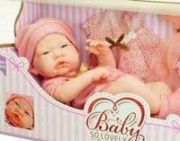 Детская Кукла пупс для девочек 38см,как настоящая.