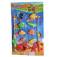 Рыбалка M 0041 U/R (60шт) 2 удочки с магнитом, сач, игрушки для малышей,детские развивающие настольные