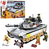 Конструктор Qman 1721 (12шт) военный, танк, фигурк, конструктор типа лего,детские конструкторы