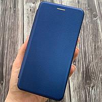 Чехол книга для Meizu C9 с эко кожи с подставкой магнитом книжка на телефон мейзу с9 синяя STN
