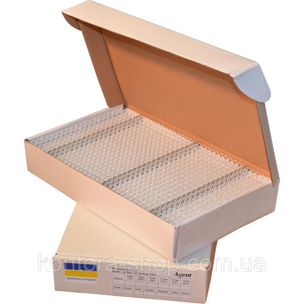 Пружины металлические 8 мм белые (100 штук)
