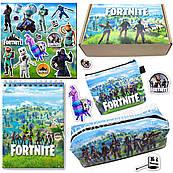 Бокс Фортнайт (пенал, блокнот, кошелек, наклейки) – отличный подарок любителям игры Fortnite