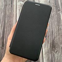 Чехол книга для Meizu M5 Note с эко кожи с подставкой магнитом книжка на телефон мейзу м5 нот черная STN