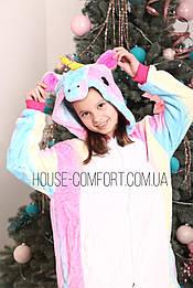 Костюм кигуруми пижама единорог радужный, кигуруми оптом