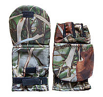 Рукавички-рукавиці для зимової риболовлі з відкидним верхом колір. клен