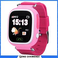 Детские Умные часы с GPS Smart baby watch Q90 розовые - Детские смарт часы-телефон с трекером и кнопкой SOS